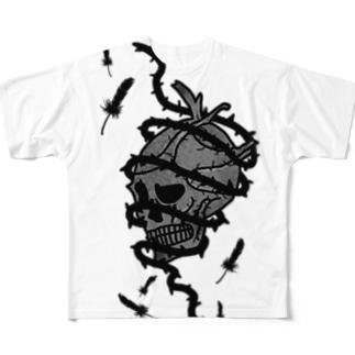 囚われ髑髏ちゃん Full graphic T-shirts