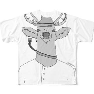 清々しいシカ男くんマーチャンダイズ Full graphic T-shirts