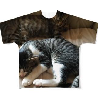 てすつ Full graphic T-shirts