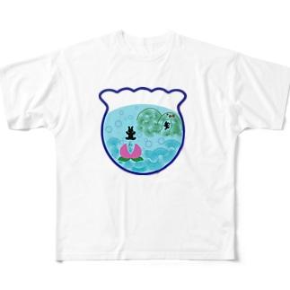 アクアリウムとおとぎ話【なんちゃって桃太郎】 フルグラフィックTシャツ