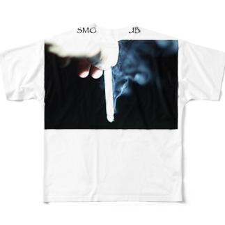 SMOKE CLUB Full graphic T-shirts