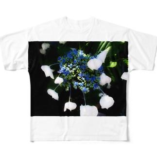 青の誘惑 フルグラフィックTシャツ
