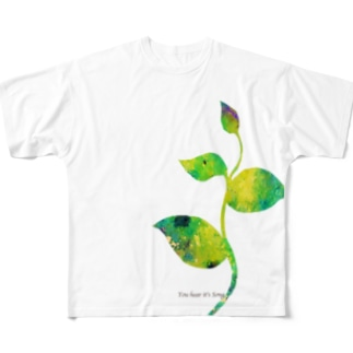 手をのばす Full graphic T-shirts