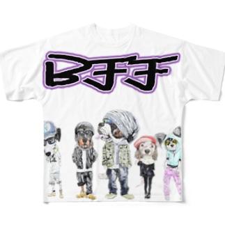 BFF わん! Full graphic T-shirts