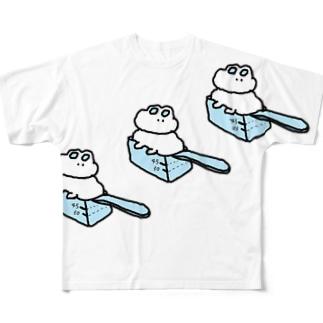 おおきい計量うさTシャツ Full graphic T-shirts