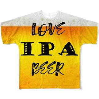 love IPA beer ver2 フルグラフィックTシャツ