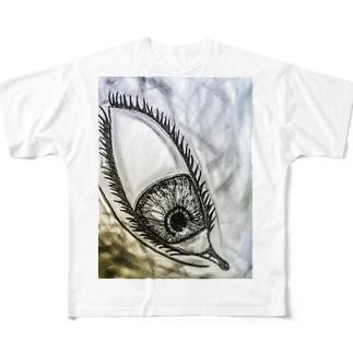 見下ろしてる目 Full graphic T-shirts