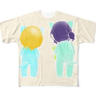 なかよしニャンコ。 Full graphic T-shirts