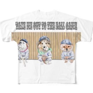 わんこリーグ フルグラフィックTシャツ