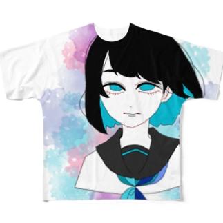 平成最後の夏ボブちゃん Full graphic T-shirts