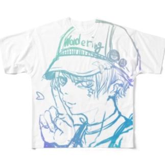 キャップ女子 フルグラフィックTシャツ