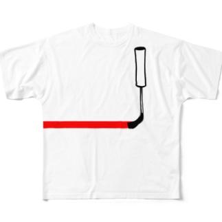 塗っちゃうよー Full graphic T-shirts