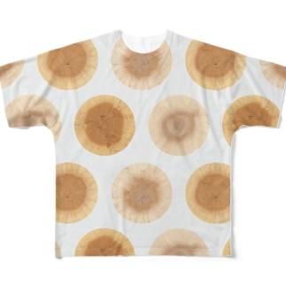 地図の年輪「水玉模様」 Full graphic T-shirts