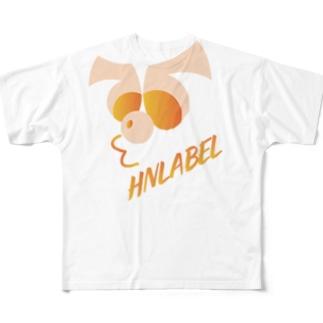 hnlabel TシャツTypeII Full graphic T-shirts
