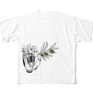Olive Full graphic T-shirts