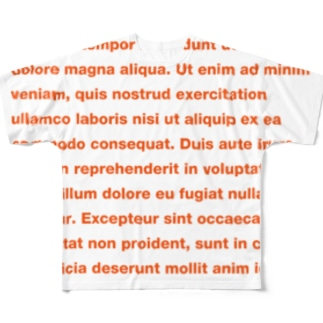 DUMMY TEXT Full graphic T-shirts