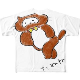 たぬねこ1 Full graphic T-shirts