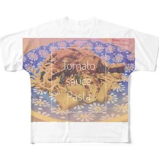 茄子のナポリタン Full graphic T-shirts