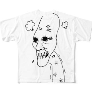 あんぐりーまん Full graphic T-shirts