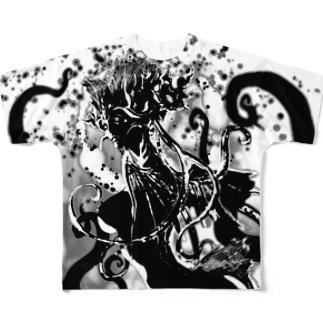 クティーラ(黒) Full graphic T-shirts
