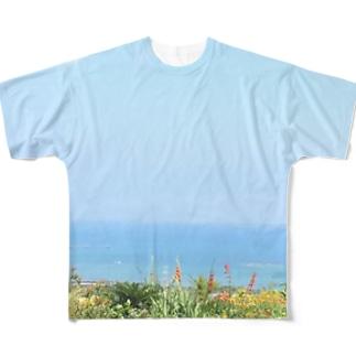 沖縄の海 フルグラフィックTシャツ