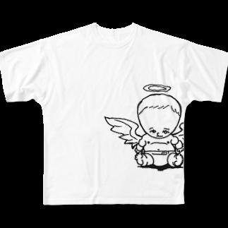 マグダラのヒカル@堕天使垢の天使クン Full graphic T-shirts