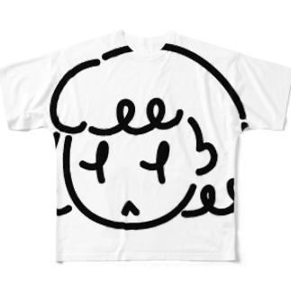 ふきげんな女の子 Full graphic T-shirts