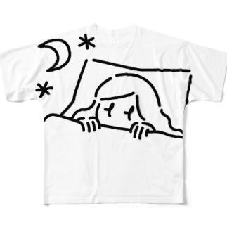 ねむれない女の子 Full graphic T-shirts