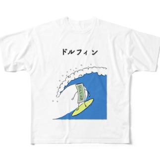 ドルフィン Full graphic T-shirts