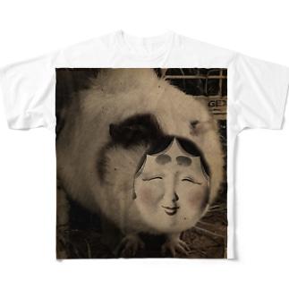 開けてはならぬむぎ茶 Full graphic T-shirts