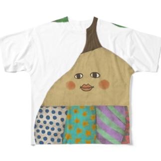 ホホエミー フルグラフィックTシャツ