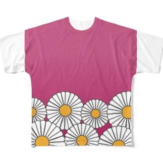 ひな菊 フルグラフィックTシャツ