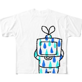 しずくテレビヘッド Full graphic T-shirts