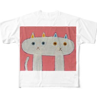 なかよしなねこ Full graphic T-shirts