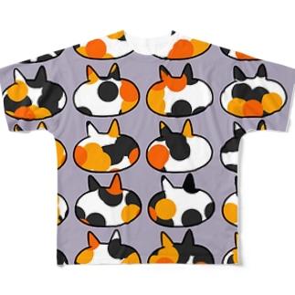 三毛猫 Full graphic T-shirts