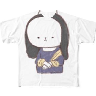 もにゃリザ Full graphic T-shirts