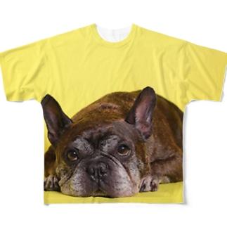 ボルドー Full graphic T-shirts