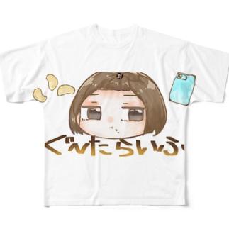 ぐーたらいふ Full graphic T-shirts