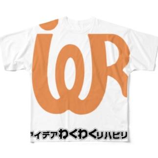 アイデアわくわくリハビリブログのロゴT フルグラフィックTシャツ
