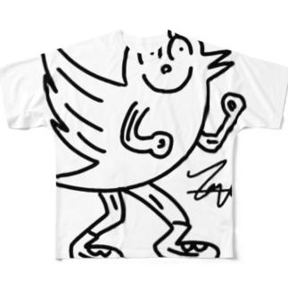 鳥ッターグッズ Full graphic T-shirts