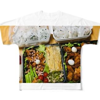 うんどーかいのおべんとー Full graphic T-shirts
