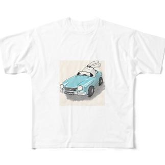 イケうさぎさん Full graphic T-shirts