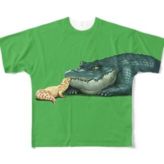 わにとかげきす Full graphic T-shirts