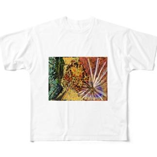 金木犀 Full graphic T-shirts
