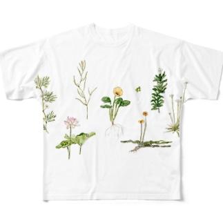 水草と花 Full graphic T-shirts