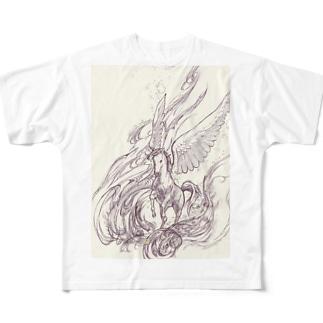 駆ける夢 Full graphic T-shirts
