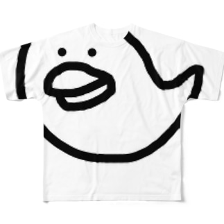 鳥のおばけ Full graphic T-shirts