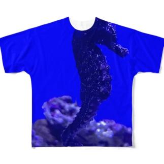 Seahorse  〜タツノオトシゴ〜 Full graphic T-shirts