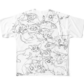 らくがきフクロモモンガ Full graphic T-shirts