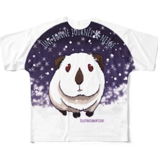 楽しい雪の日 フルグラフィックTシャツ